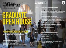 Tulane School of Architecture Fall Graduate Open House...
