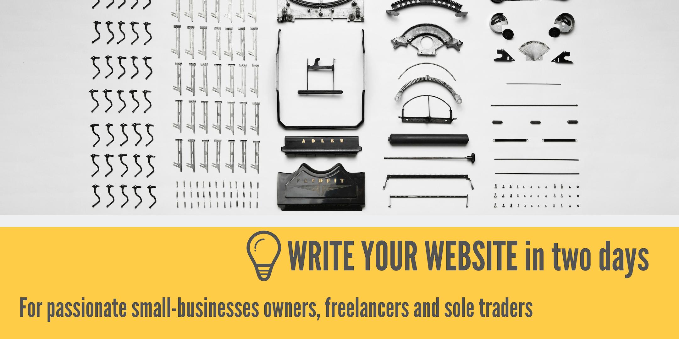 Write Your Website Workshop