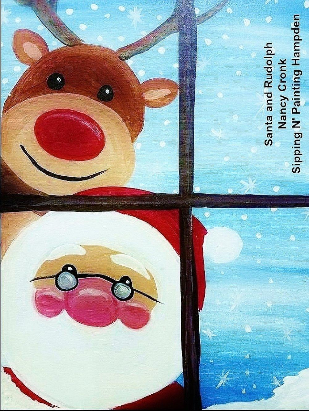 Paint Wine Denver Santa and Rudolph Sun Dec 15th 1:30pm $25