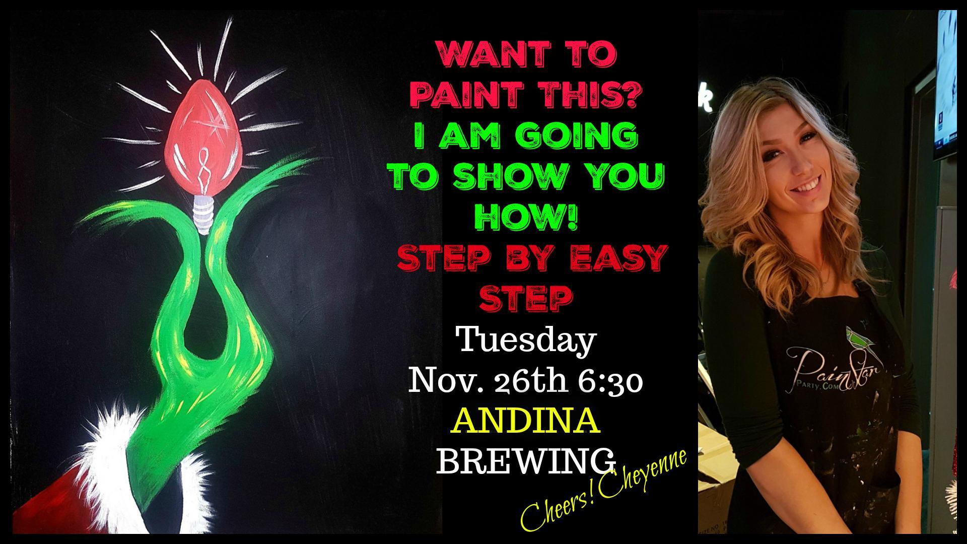 Paint Grinch Bulb at ANDINA Brewing, EAST VAN