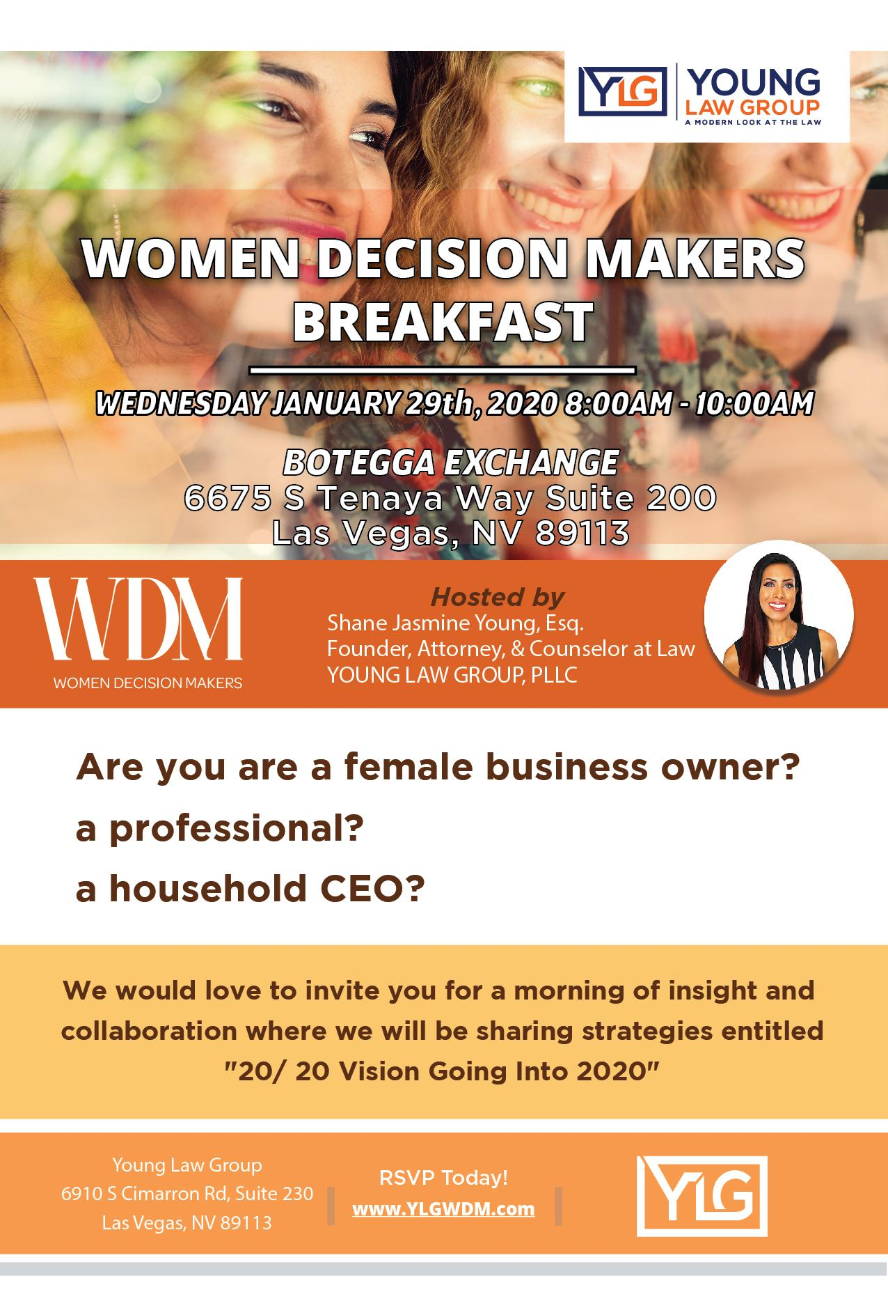 Women Decision Makers Breakfast 20/ 20 Vision Going Into 2020