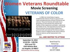 """""""Veterans of Color - All are Invited to Attend"""