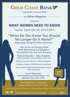 "WHAT WOMEN NEED TO KNOW- ""When Do You Know You Should..."