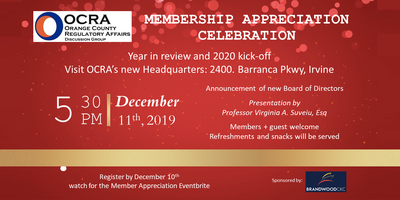 2020 Year In Review.Ocra Membership Appreciation Celebration Year In Review