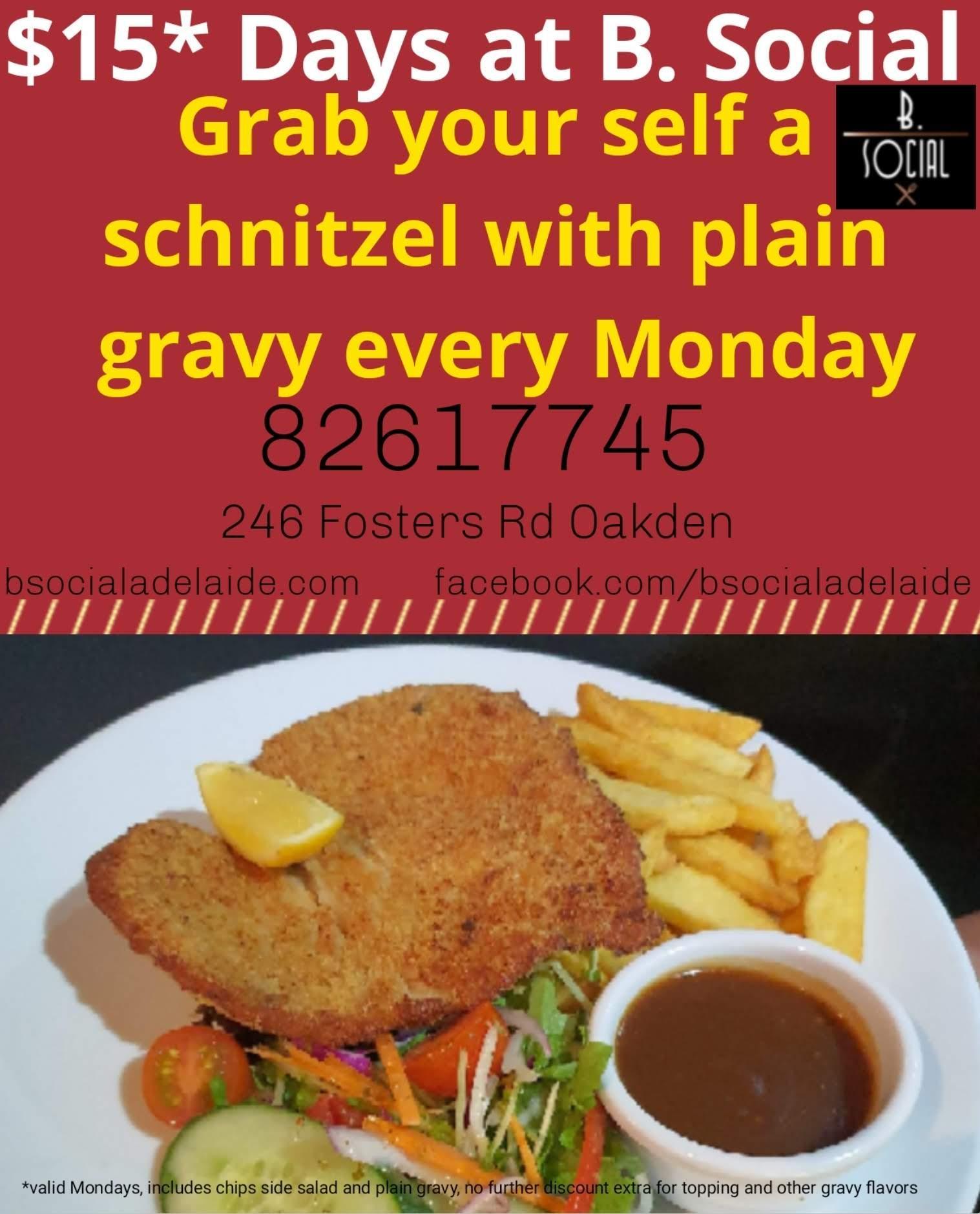 $15* Schnitzel Day