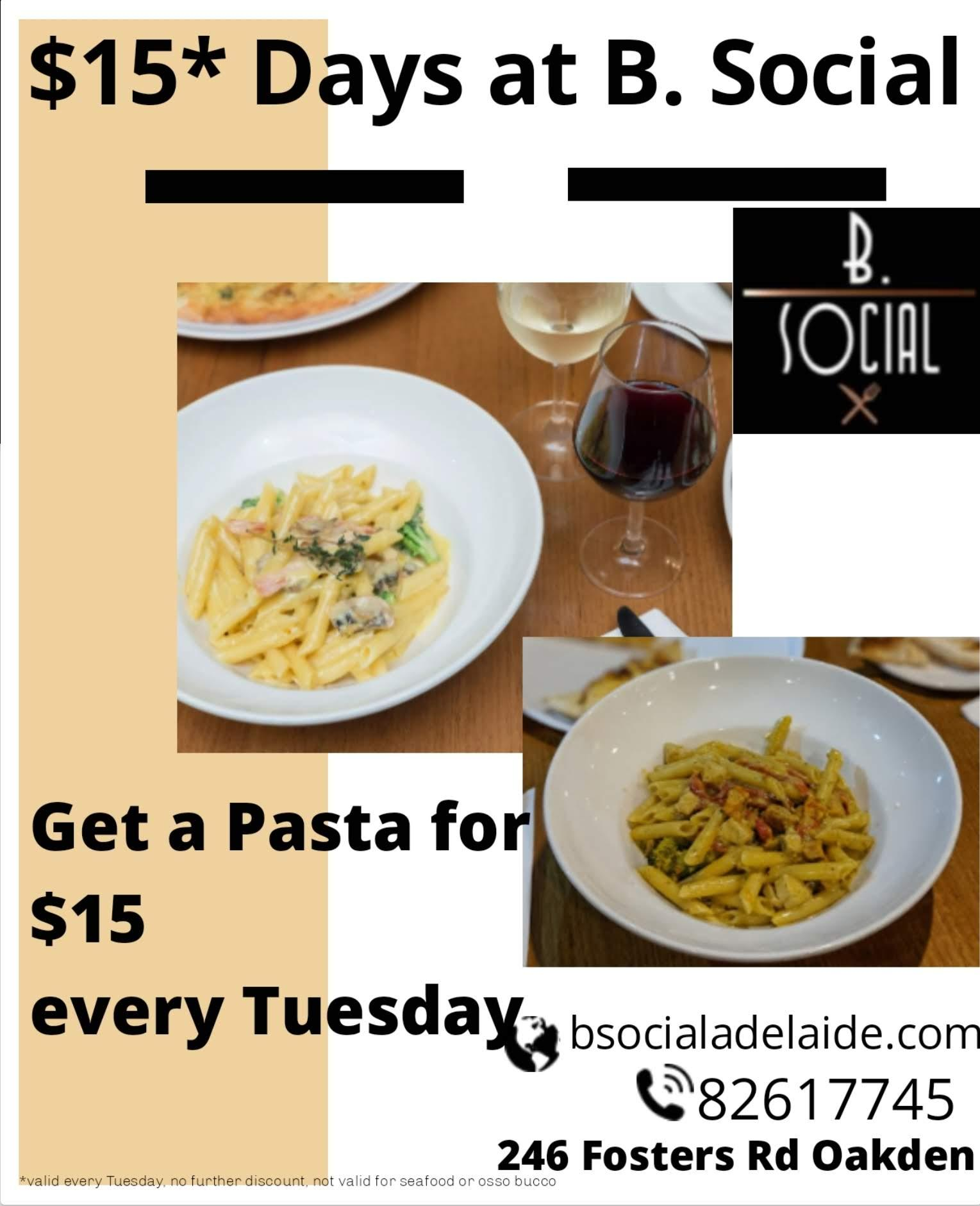 $15* Pasta Day