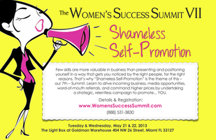 "Women's Success Summit VII - Theme: ""Shameless Self-Promotion"""