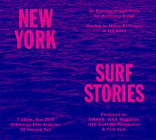 NY Surf Stories: An Evening of NY Surf Films for...