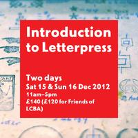 Introduction to Letterpress Two-day Workshop