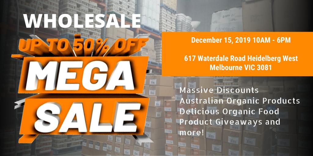 WHOLESALE MEGA SALE - Natural Organic Products