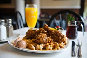 After Hours Breakfast At Dame's Chicken & Waffles