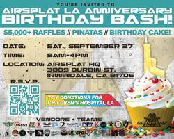 AirSplat LA Anniversary Birthday Bash!