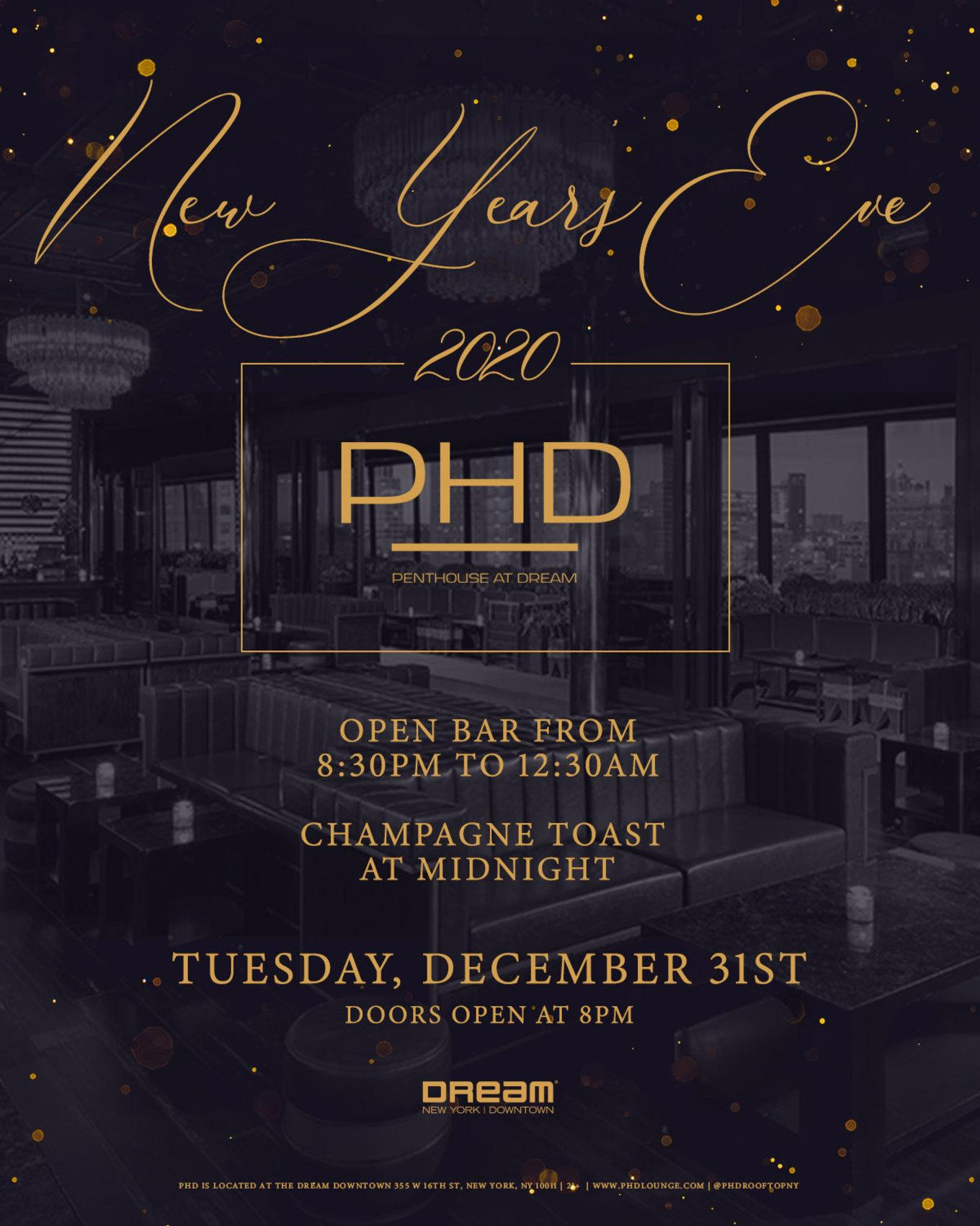 PHD at Dream Downtown New Year's Eve 2020