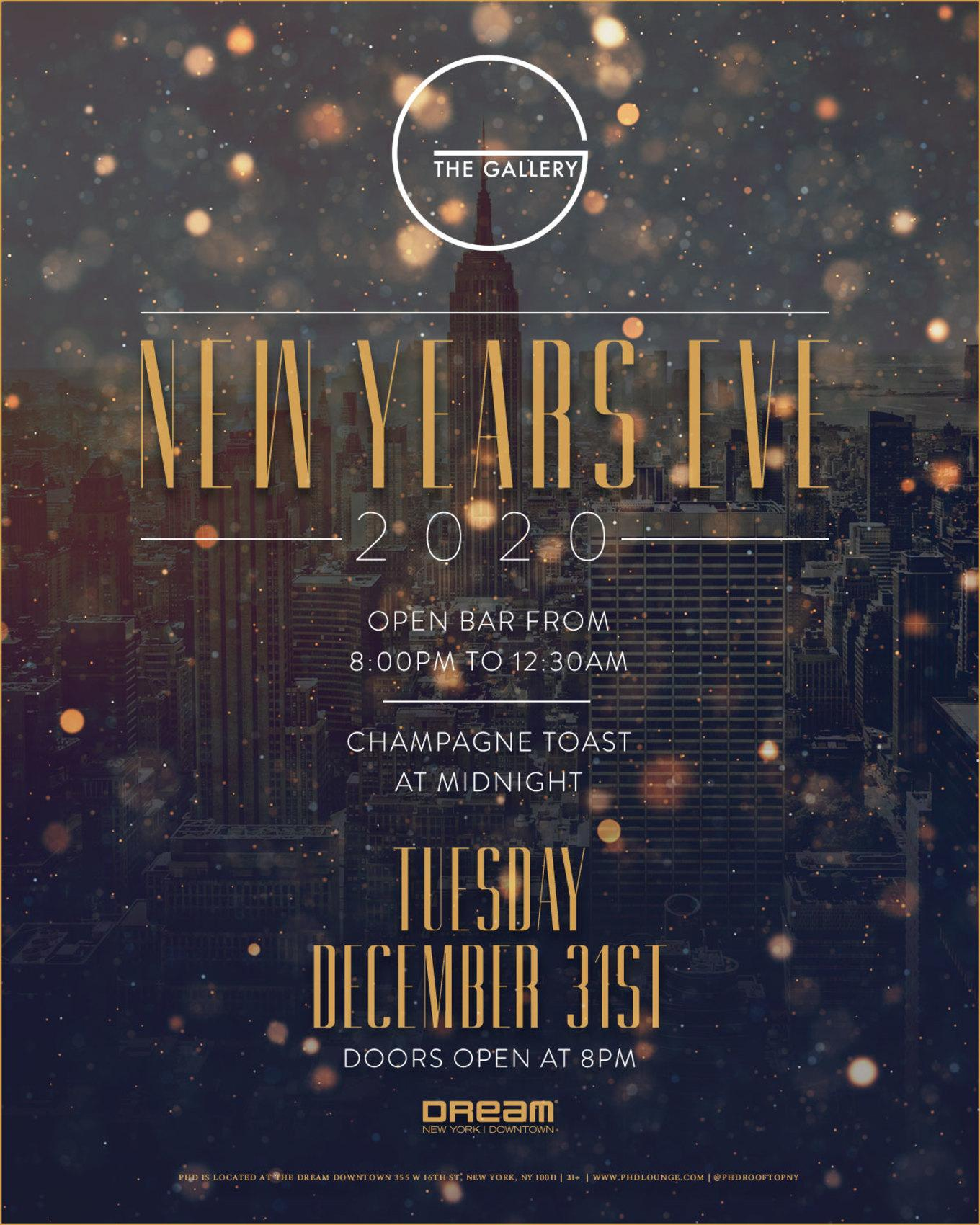 Dream Downtown New Year's Eve 2020 at The Gallery