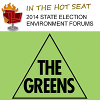 2014 state election environment forum - Greens