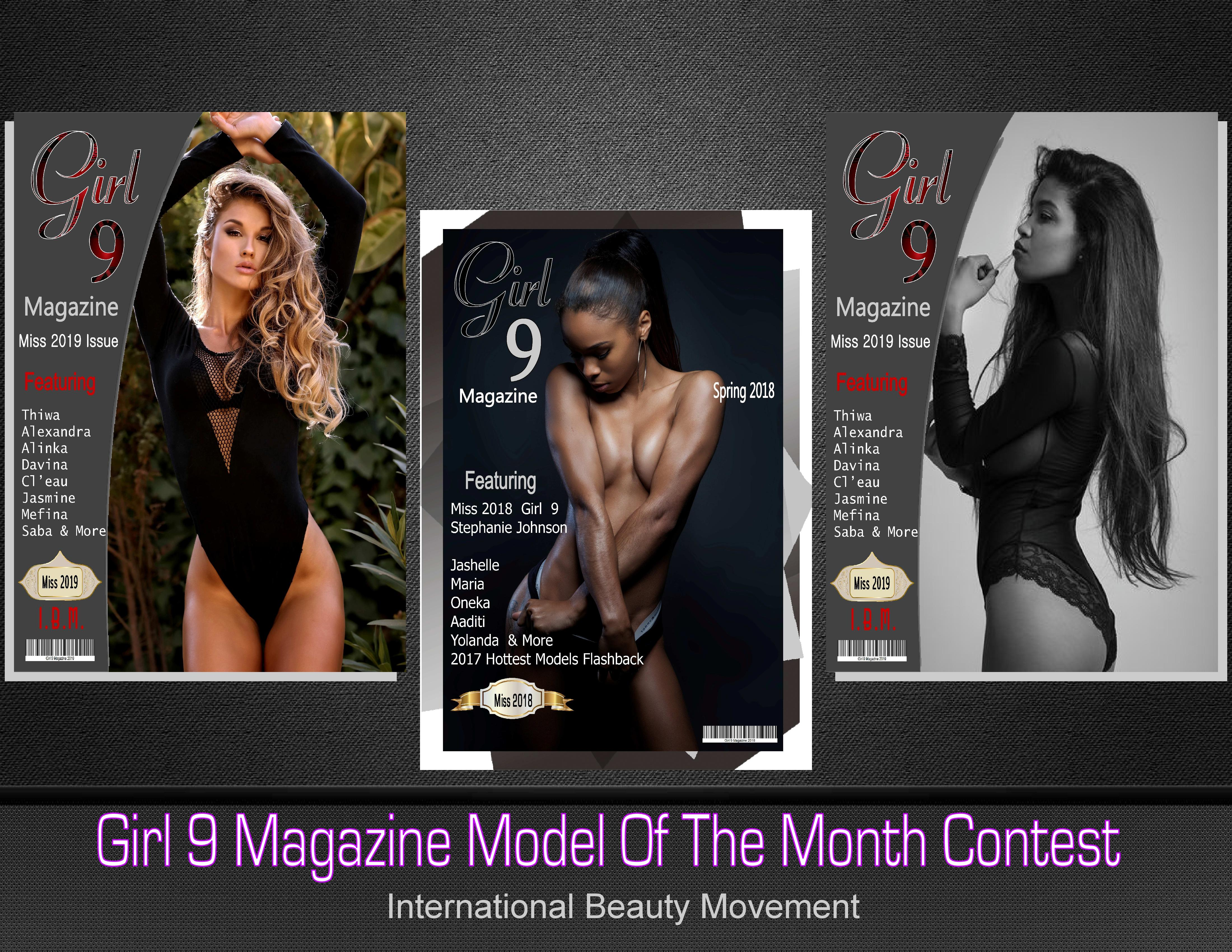 Girl 9 Magazine Free Lingerie Model of the Month Contest