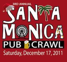 SANTA Monica Pub Crawl logo