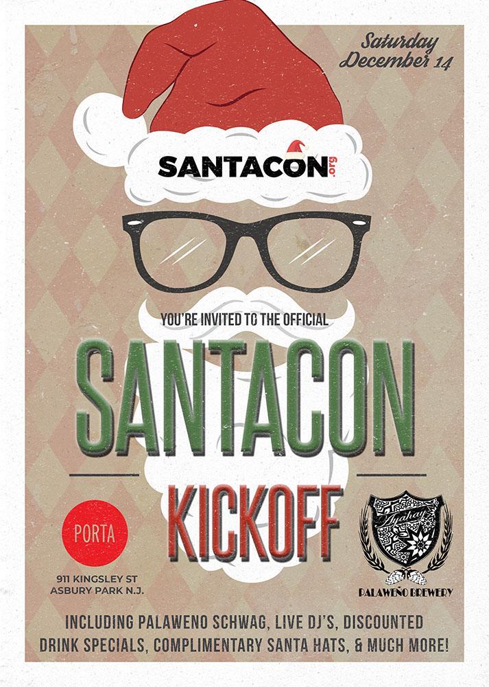 Official Asbury Park SantaCon Kickoff at Porta