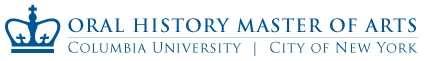 Columbia Oral History MA Open House: January 29, 2015