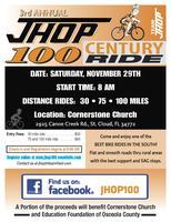 3rd Annual JHOP 100 Century  Ride