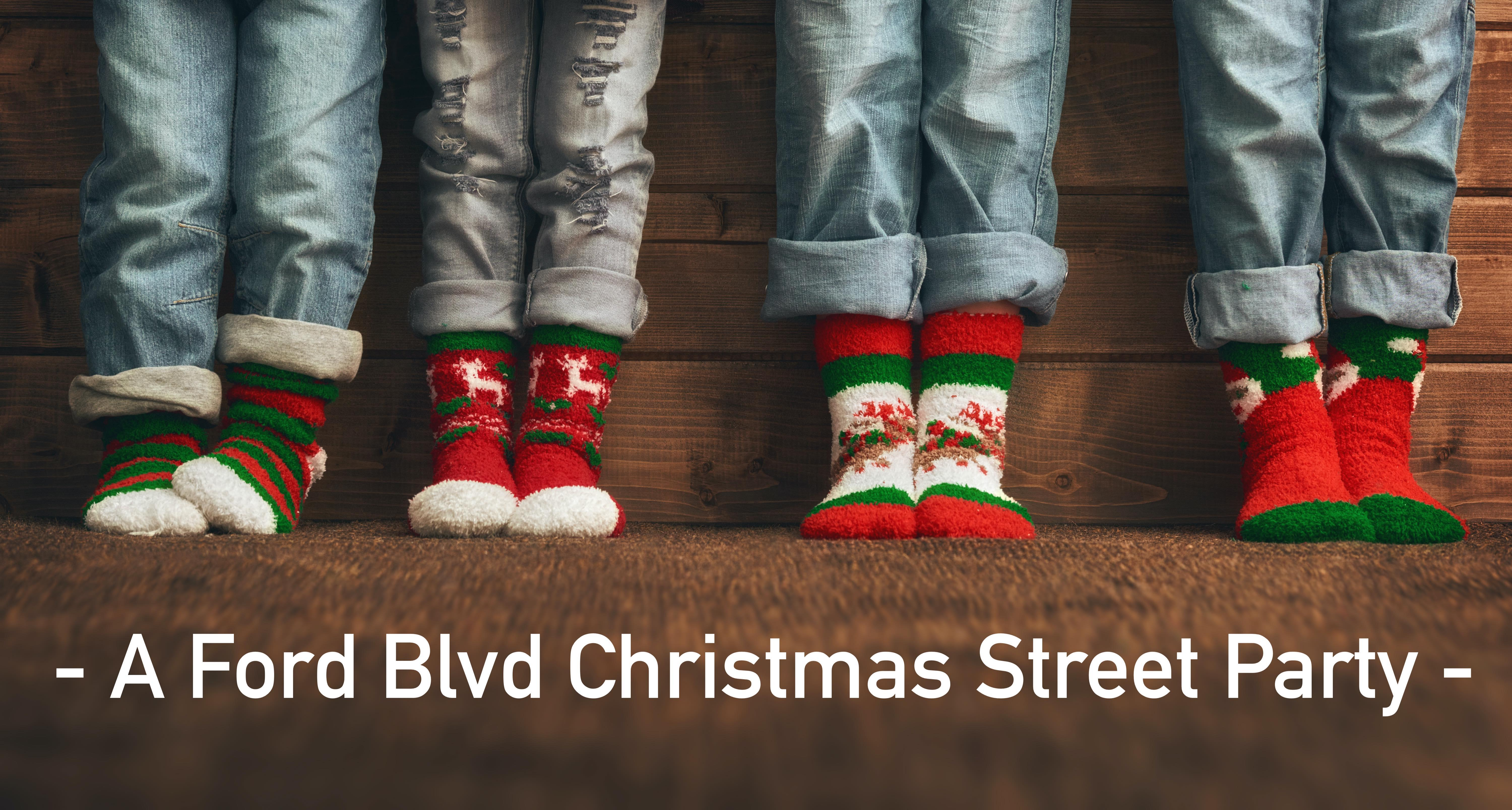 Baby it's cold outside - A Ford Blvd Christmas Sock Party