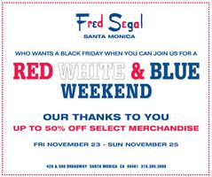 Fred Segal Rocks and Silk Thanksgiving Sale!