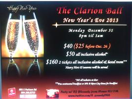 New Years Eve Ball at the Clarion Inn Richmond