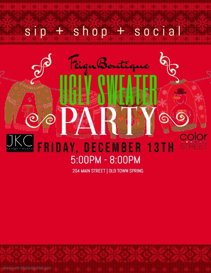 Ugly Sweater Shopping Party | Dec. 13th