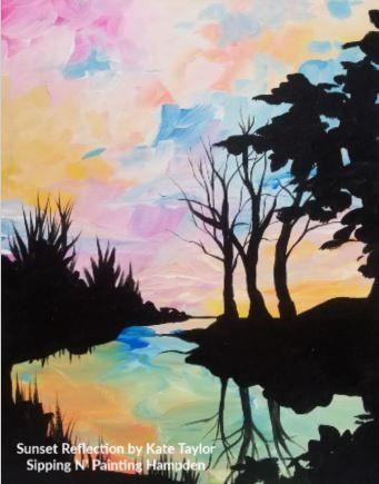 Paint Wine Denver Sunset Reflection Mon Jan 27th 6:30pm $30