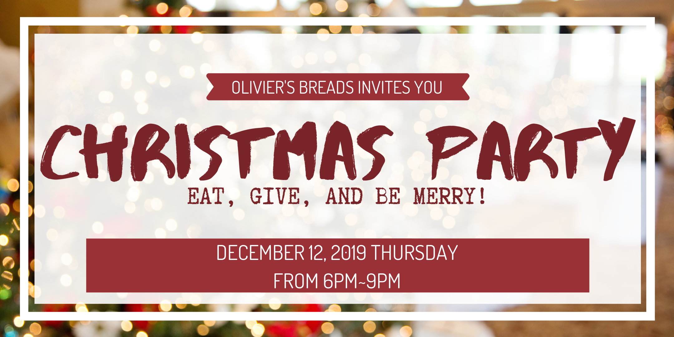 Christmas Party 2019 at Olivier's Breads