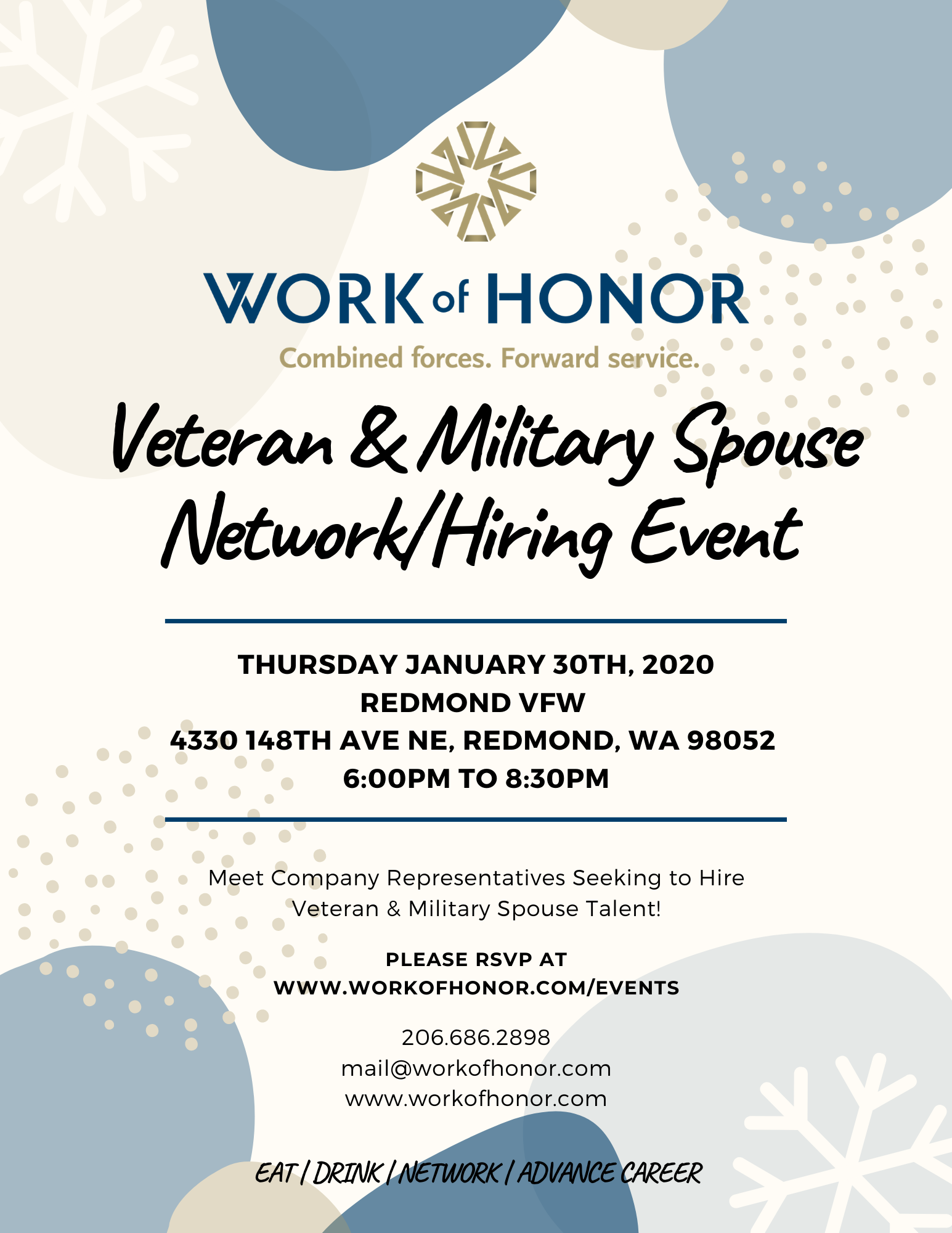 Business Network / Hiring Event for Veterans, Military Spouses & Business Professionals!