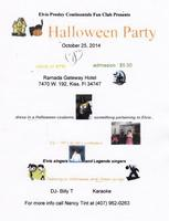 Elvis Presley Continentals Fan Club Annual Halloween pa...