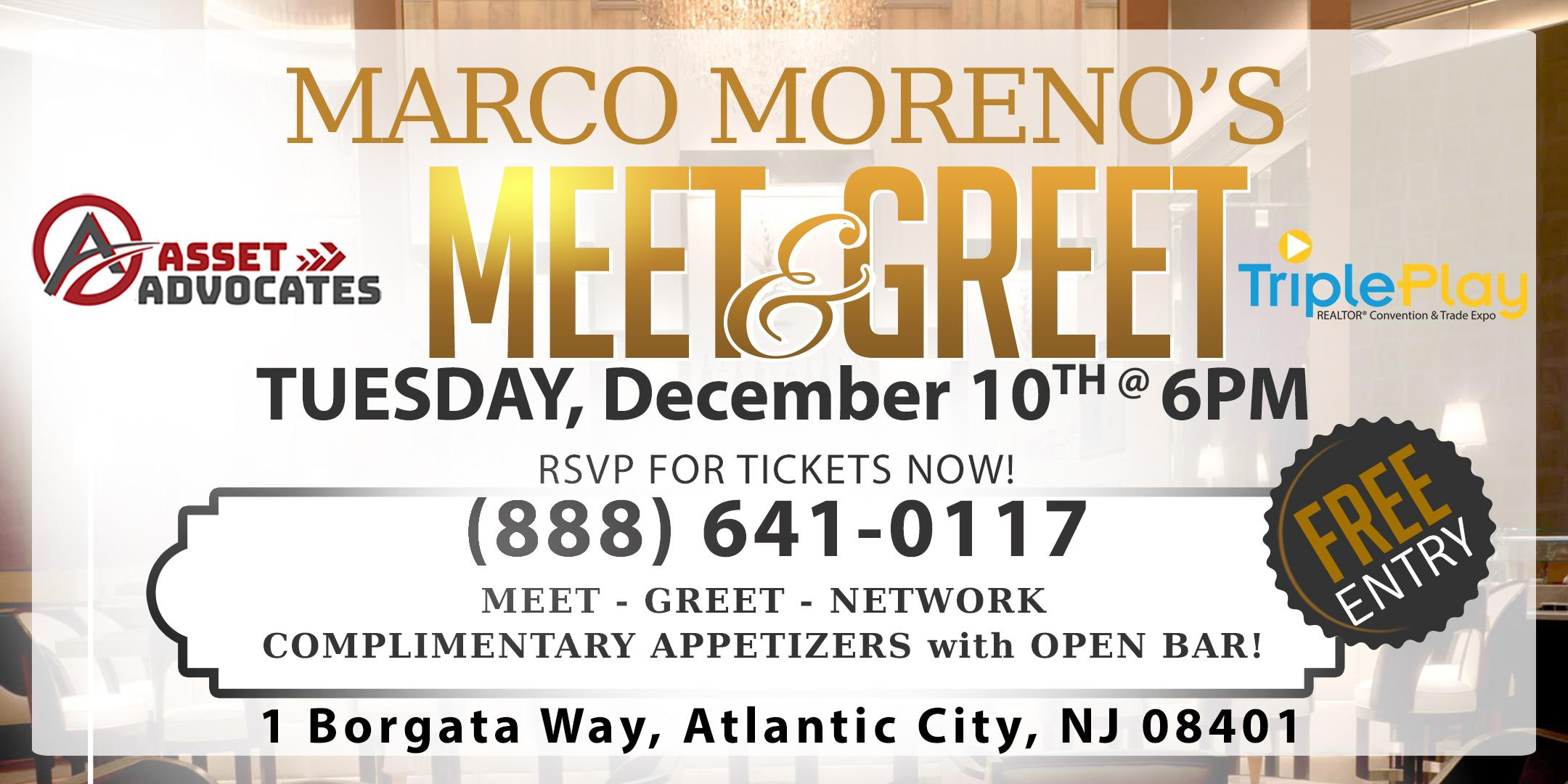 Asset Advocates Presents Marco Morenos' Meet & Greet at Triple Play