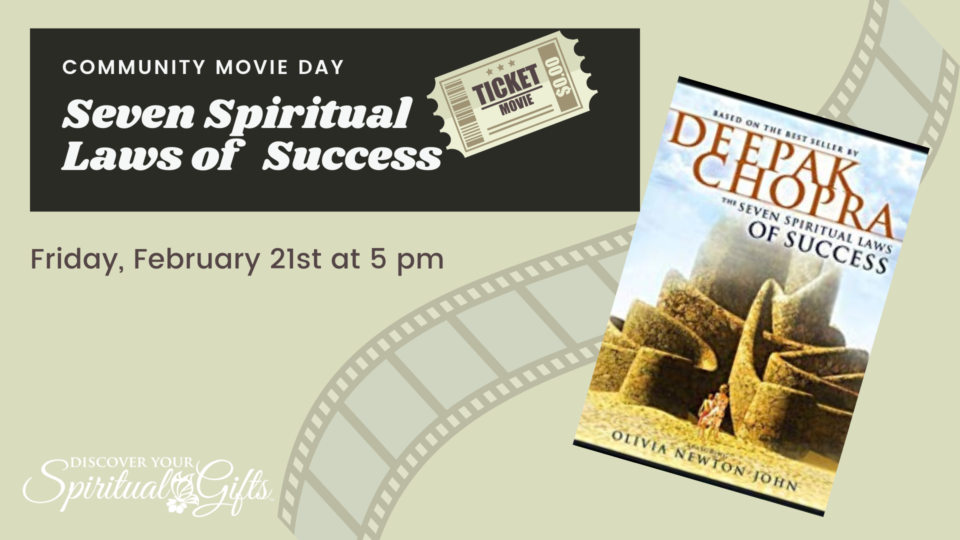 Community Movie Night: Seven Spiritual Laws of Success
