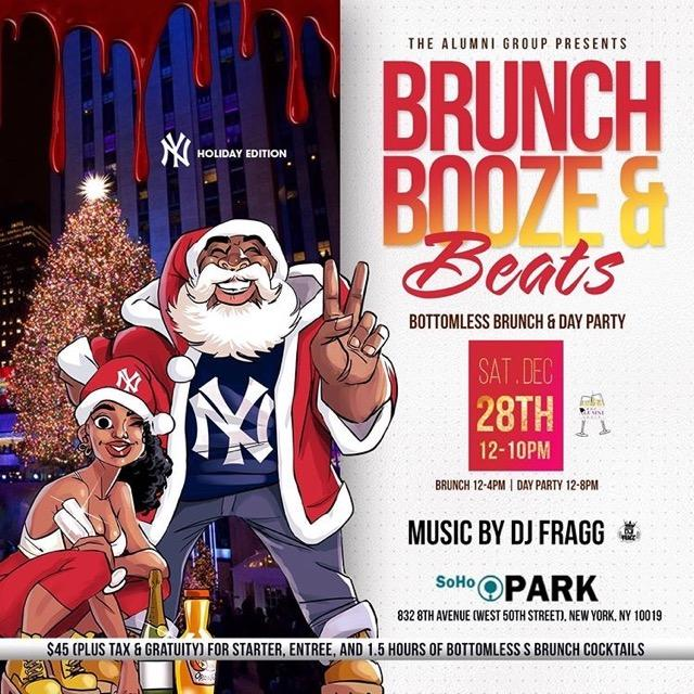 Brunch Booze & Beats - Holiday Bottomless Brunch & Day Party