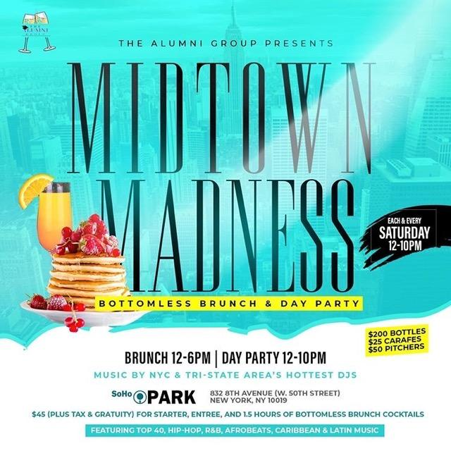 Midtown Madness Bottomless Brunch & Day Party