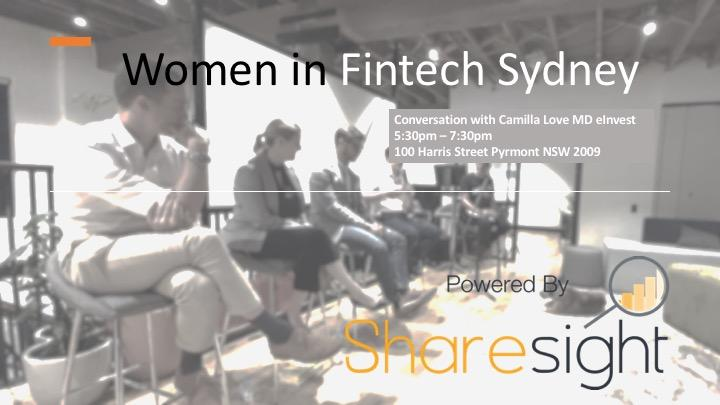 Women in FinTech Sydney launch event with Camilla Love