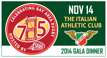 '75 Years of Bay Area Rugby Gala Dinner'