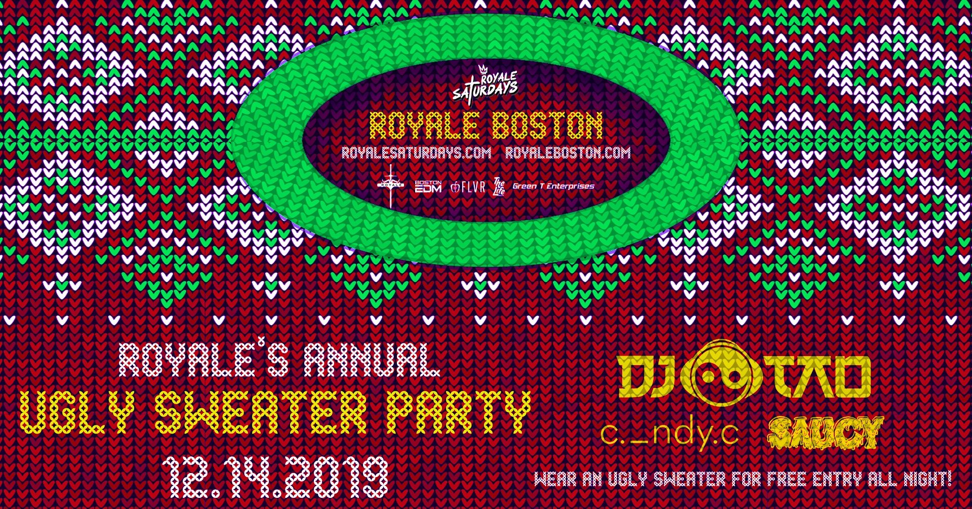 Royale's Annual Ugly Sweater Party ft. DJ Tao | 12.14.19 | 10:00 PM | 21+