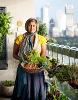 Champagne tour of Indira Naidoo's Edible Balcony