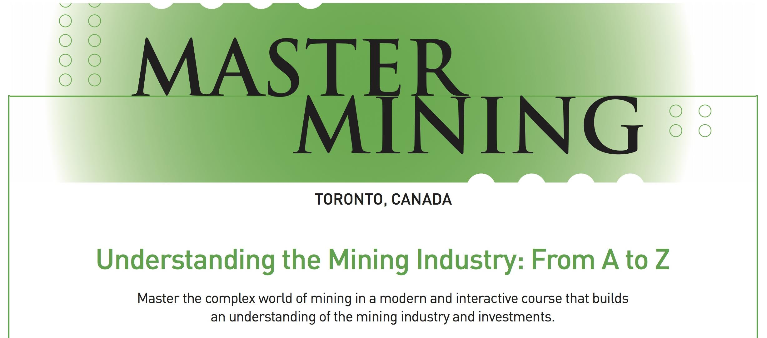 MASTERMINING: Understanding the Mining Industry From A to Z