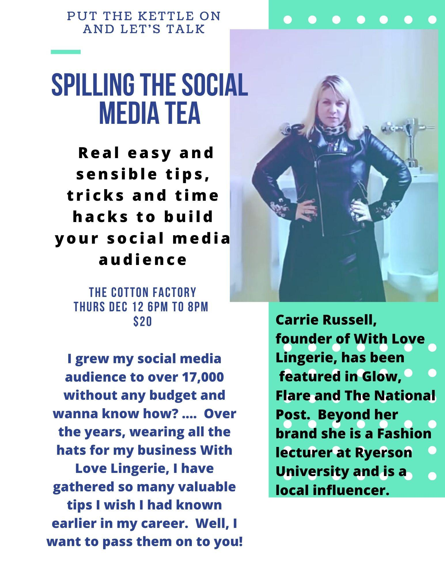 Spill the Social Media Tea With Carrie of With Love Lingerie