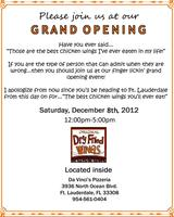 Grand Opening Original Dry Fried Wings!