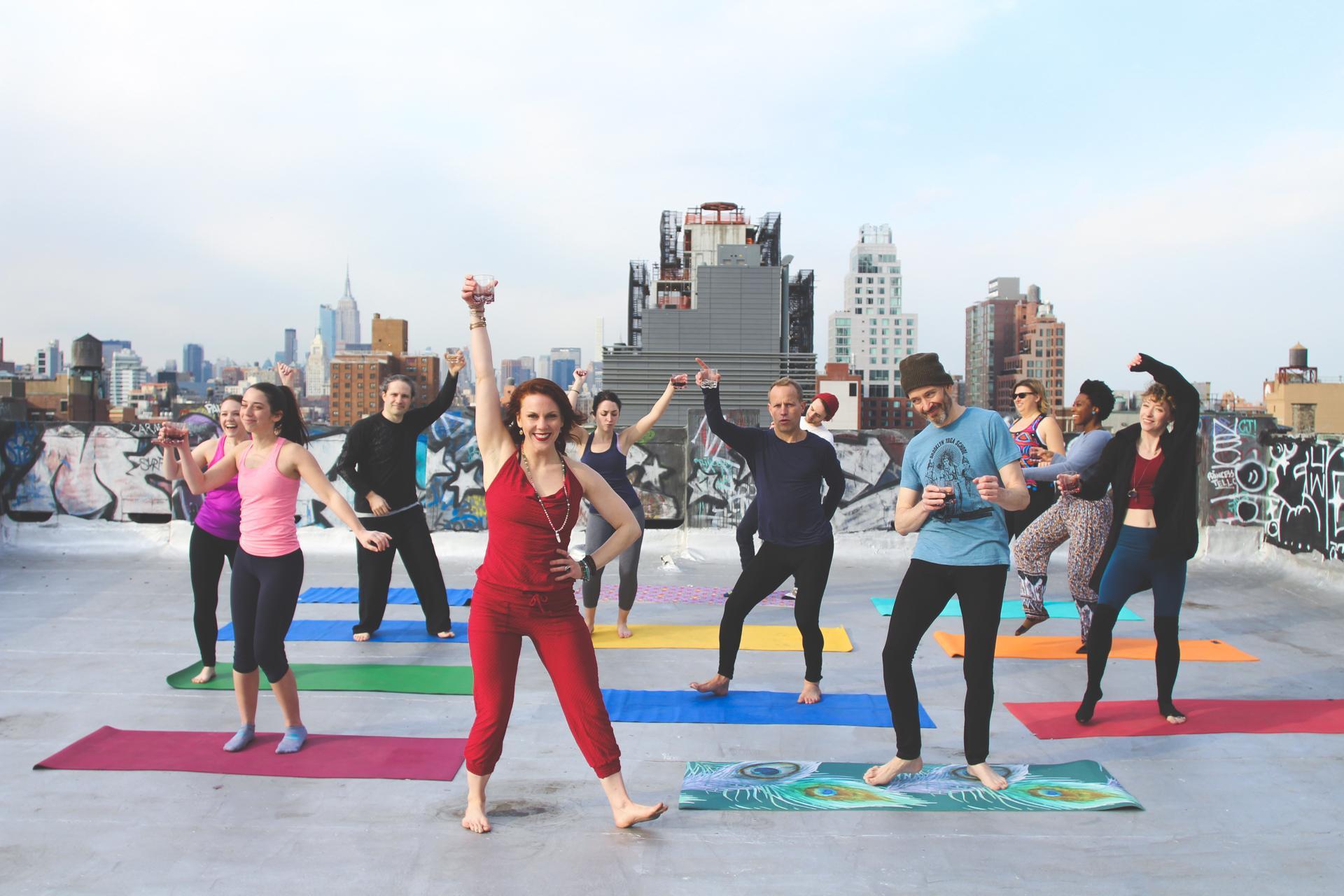 Drunk Yoga Nyc Presents Spirit S Yoga At Moxy Times Square 30 Jan 2020