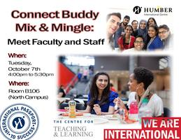 Connect Buddy Mix & Mingle: Meet Faculty & Staff