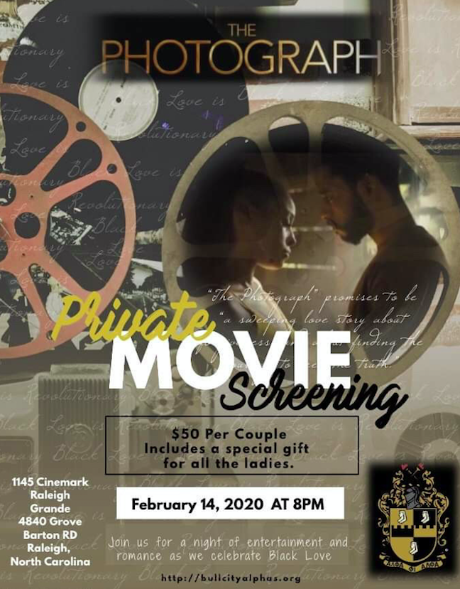 Bull City Alphas Present Date Night Triangle Private Movie Screening 14 Feb 2020 Sign up for eventful's the reel buzz newsletter to get upcoming movie theater information and movie times delivered right 4840 grove barton rd. evensi