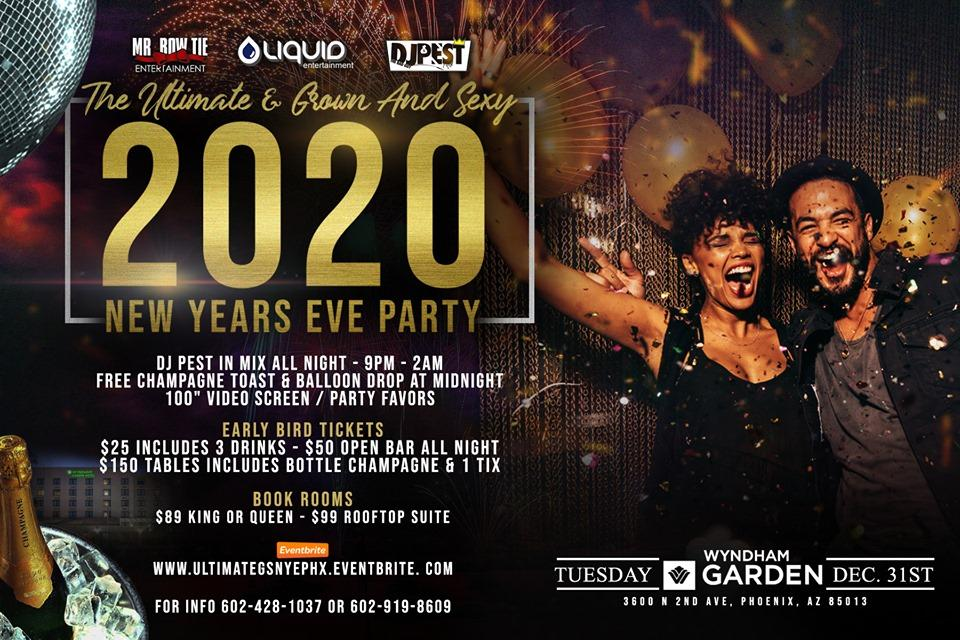 The Ultimate Grown & Sexy NYE Hotel  Party 2020