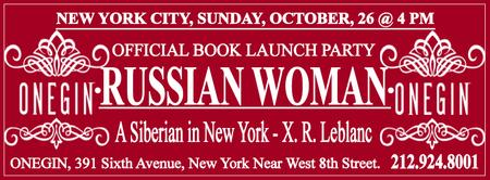 Book Launch Party - Russian Woman, A Siberian in New...