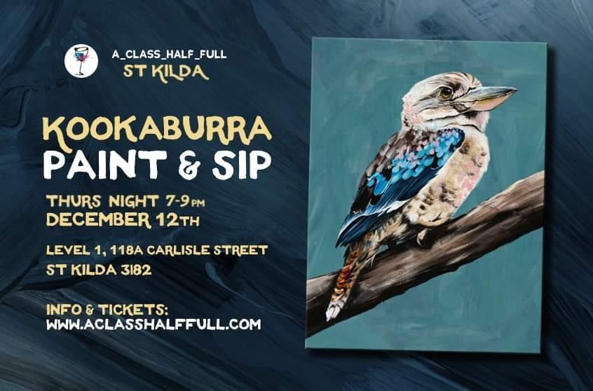 DEC 12th Kookaburra Paint and Sip Workshop