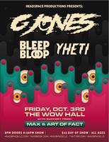 G Jones, Bleep Bloop, Yheti, Art Of Fact! Friday...